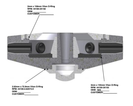 250mmx70mm Atomizer 0-ring detail