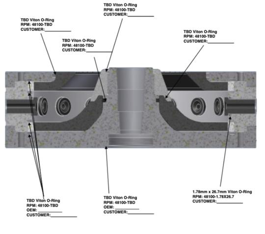 400mmx128mm o-ring detail