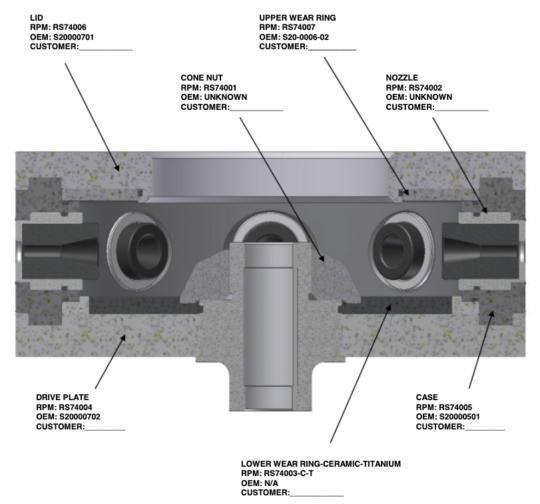 "10"" OEM Wheel Components - Standard (Cross Section"