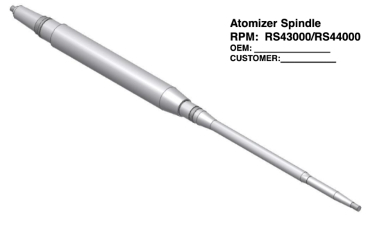 Atomizer Spindle - RS43000/RS44000
