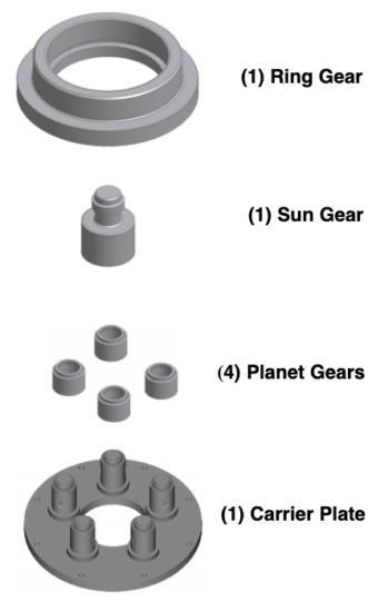 3.672 gearbox components