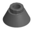 hastelloy cone nut 240mm