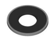 ceramic lower ear ring- Titanium flat